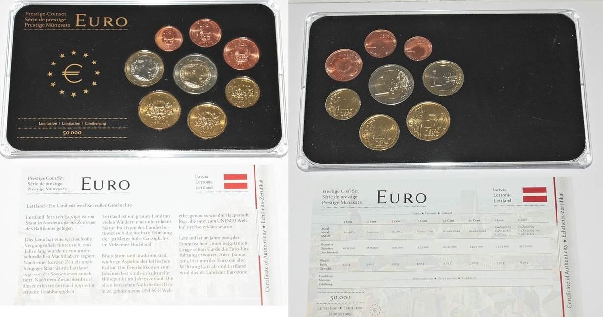 388 2014 Lettland Kursmünzensatz Prestige Münzsatz Prägefrisch