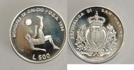 San Marino 500 Lire XV. Fussball-Weltmeisterschaft 1994 in den USA (Fallrückzieher)