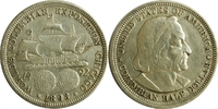United States,Vereinigte Staaten (USA), Amerika 1/2 Dollar Weltausstellung (World`s Columbian Exposition) 1893 in Chicago