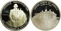 """United States, Vereinigte Staaten (USA), Amerika 1/2 Dollar 250. Geburtstag von George Washington (George Washington zu Pferde) """"S&quot"""