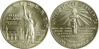 """United States,Vereinigte Staaten (USA), Amerika 1 Dollar 100 Jahre Freiheitsstatue vor dem Hafen von New York (Arm mit Fackel) """"P&qu"""
