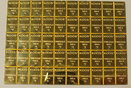 50 Gramm Feingold .999 neu Deutschland 50 Gramm Feingoldbarren .999 fein zum Abbrechen von jeweils 1 g Teilstücke. Stempelglanz gekapselt mit Zertifikat