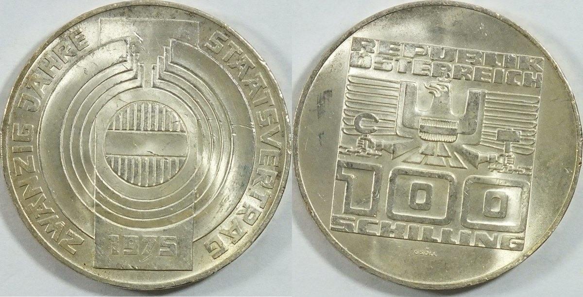 100 Schilling 1975 österreich 20 Jahre Staatsvertrag Vz St Ma Shops
