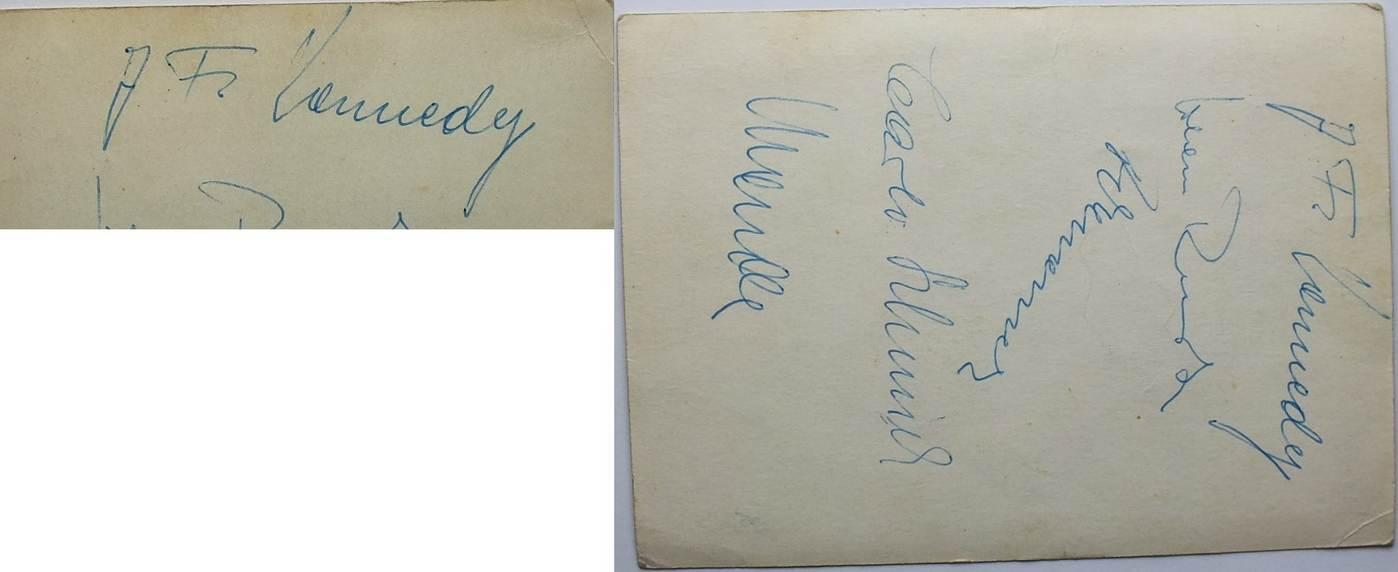 35 John F Autogramm Kennedy Präsident der USA Autograph President