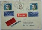 Bund  Michel Nr.325 40 Pf Wohlfahrt 1959 auf Eilboten mit Berlin Zusatzfr.