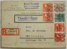 Berlin  Mischfrank. bi-Zone 38 I (Paar),38 II, A 49II mit SBZ 184 u. 188