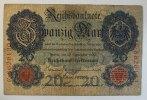 Deutsches Reich 20 Mark Rosenberg Nr. 37, Serie C, Unterdruck S