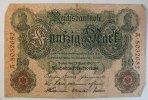 Deutsches Reich 50 Mark Rosenberg Nr. 42, Serie A, Unterdruck T,  KN 7-stellig