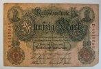 Deutsches Reich 50 Mark Rosenberg Nr. 42, Serie D, Unterdruck T,  KN 7-stellig