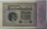 Deutsches Reich 100.000 Mark Rosenberg Nr.82 a, FZ: F