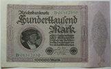 Deutsches Reich 100000 Mark Rosenberg Nr.82 a