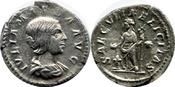 Denar 223-226 AD. Römische Kaiserzeit Julia Maesa, VZ