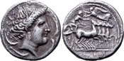 AR Tetradrachm 325-300 BC Griechenland Sicily, Siculo-Punic ss+