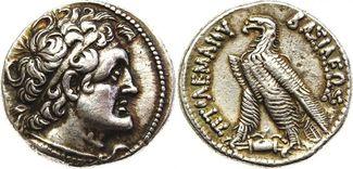 AR Tetradrachm 204-180 BC. Griechenland Egypte. Ptolomy V Epiphane NGC XF