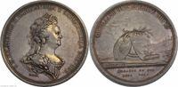 AR Medaille 1791 Russland Katarina II Carl...