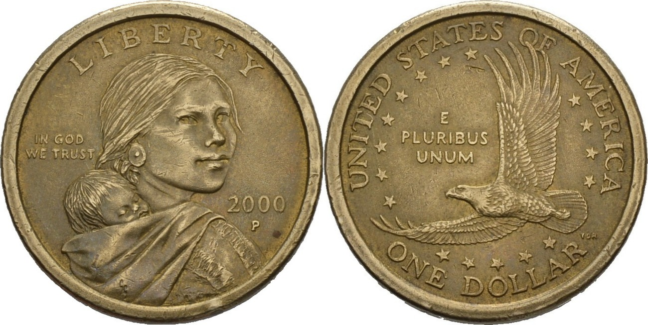 1 Dollar 2000p Amerika Sacagawea Dollar Ss Ma Shops