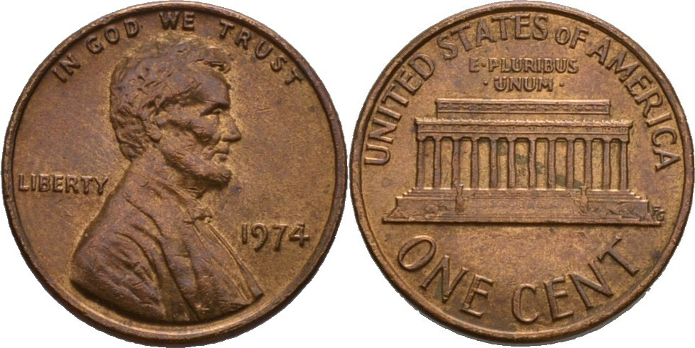 1 Cent 1974 Amerika Präsident Von Amerika 1974 Richard Milhous