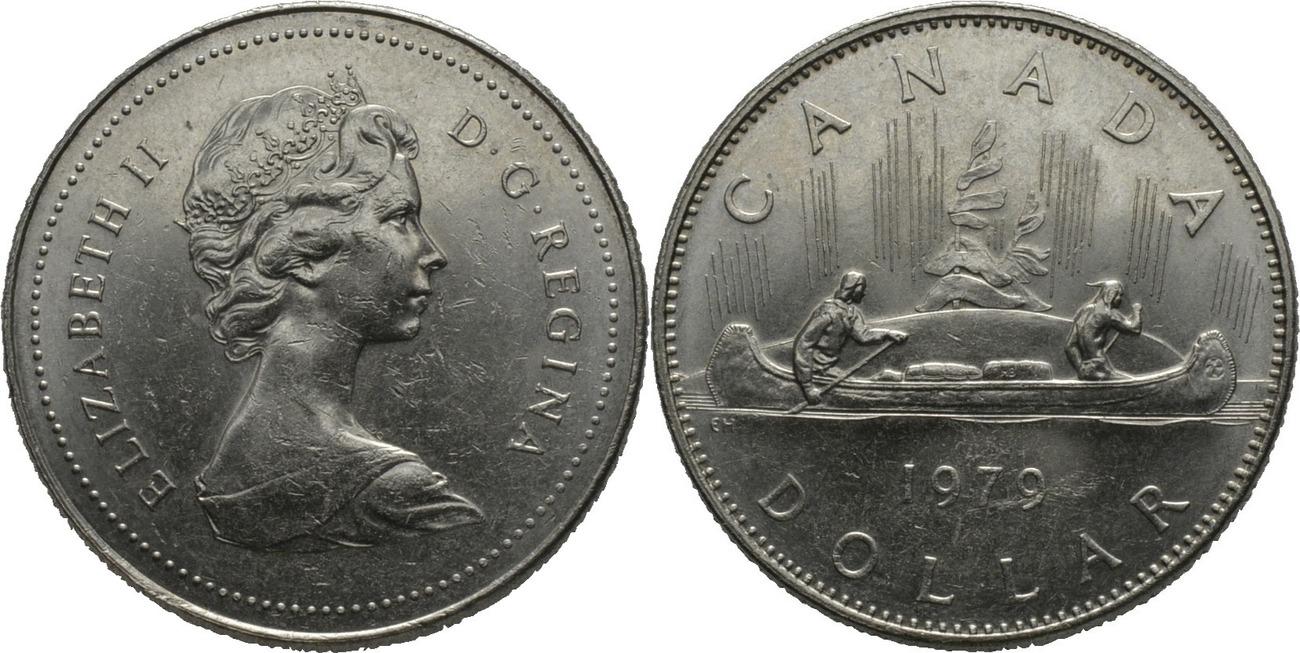 1 Dollar 1979 Kanada Premierminister Von Kanada 1979 Joe Clark