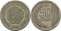 """Peru 50 Centimos Staatspräsident Peru 2000 """"Alberto Kenya Fujimori&quot:   / &quot:  Valentí"""
