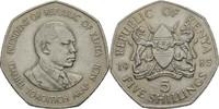"Kenia 5 Shillings Präsident von Kenia 1985 ""Daniel arap Moi"""