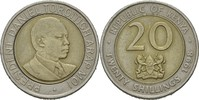 "Kenia 20 Shillings Präsident von Kenia 1998 ""Daniel arap Moi"""