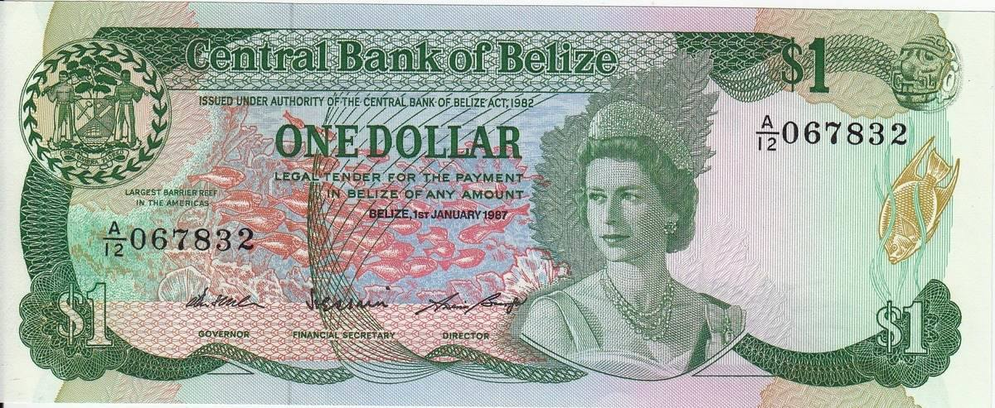 1 Dollar 1987 Belize Elizabeth P 46c