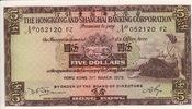 Hong Kong 5 Dollars SHIP P.181f