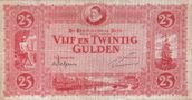 Netherlands 25 Gulden(AV47.1C.3)(P.36) WILLEM v ORANJE M.73-1C