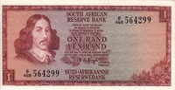 South Africa 1 Rand RIEBEECK P.109b