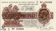 Great Britain 1 Pound GEORGE V P.361a