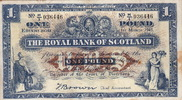 Scotland 1 Pound ARMS P.322b