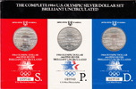 U.S.A.  3 x 1 Dollar S-OLYMPIC 1984 STADIUM PACKACE KM.209SPD