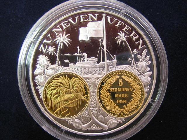 1200 Jahre Deutsche Münze Gedenkprägung I5 Mark Neu Guinea 1894i