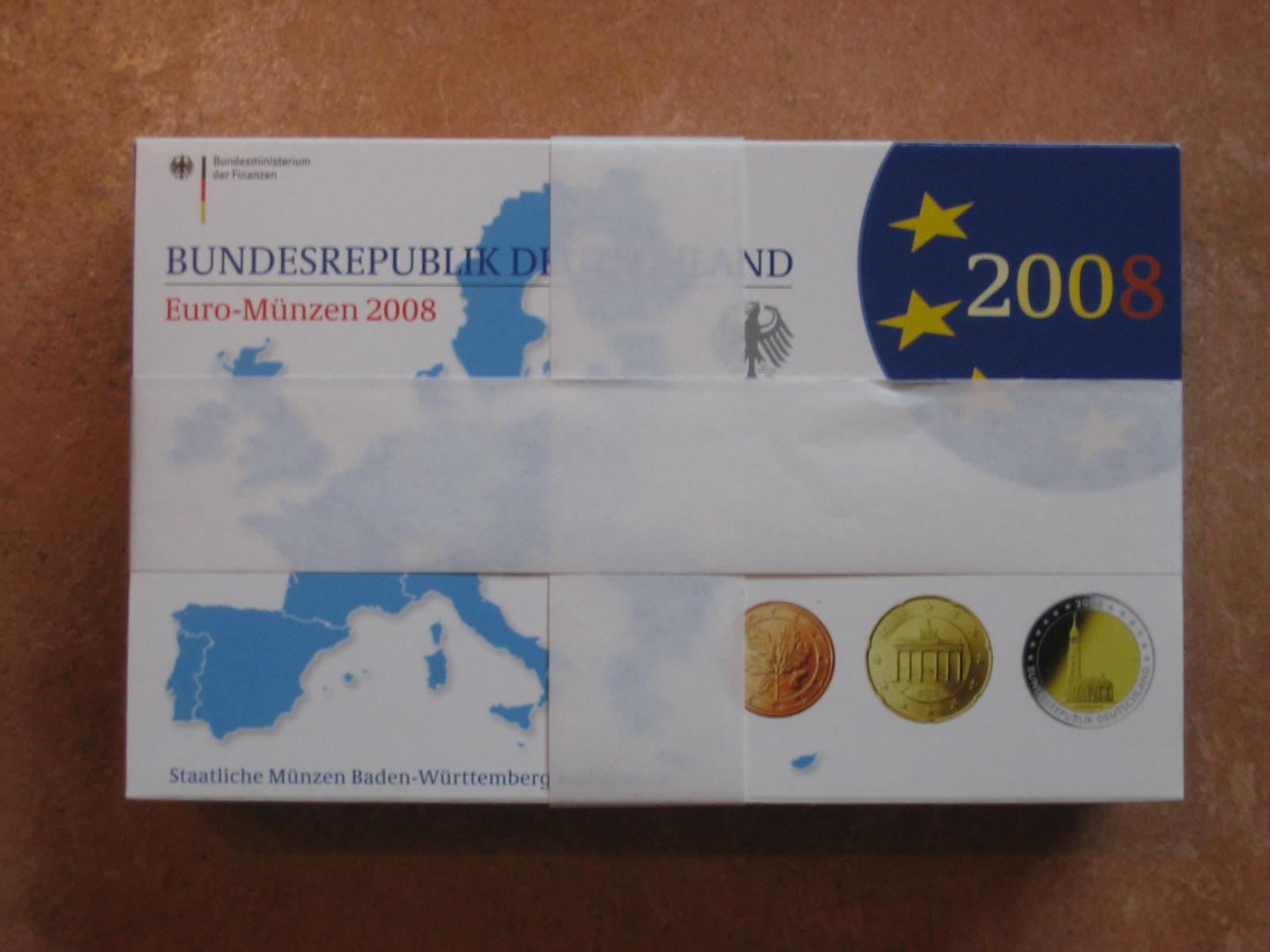 2940 Euro 2008 Brd Brd Kms 2008 Adfgj Pp Original Mit 2 Euro