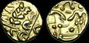 CELTIC BRITAIN CE-QQJP - CORIELTAUVI - 'NORTH-EAST COAST', Gold Stater, ca.55-45BC.   VERY-RARE