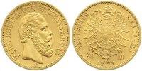 Württemberg 20 Mark Gold Karl 1864-1891.