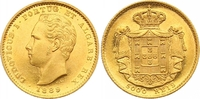 Portugal 5000 Reis Gold Luis I. 1861-1889.