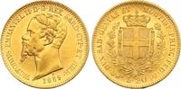 Italien-Sardinien 20 Lire Gold Vittorio Emanuele II. 1849-1878.