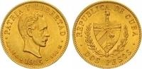 Kuba 2 Pesos Gold Republik.