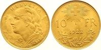 10 Franken Gold 1922  B Schweiz-Eidgenossenschaft  Vorzüglich - Stempel... 165,00 EUR  Excl. 7,00 EUR Verzending