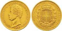 Italien-Sardinien 20 Lire Gold Carlo Alberto 1831-1849.