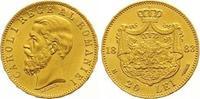 Rumänien 20 Lei Gold Carol I. 1866-1914.