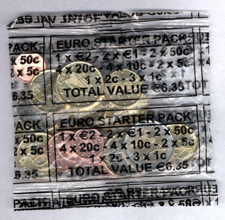 6,35 EUR 2002 Irland Starterkit bfr