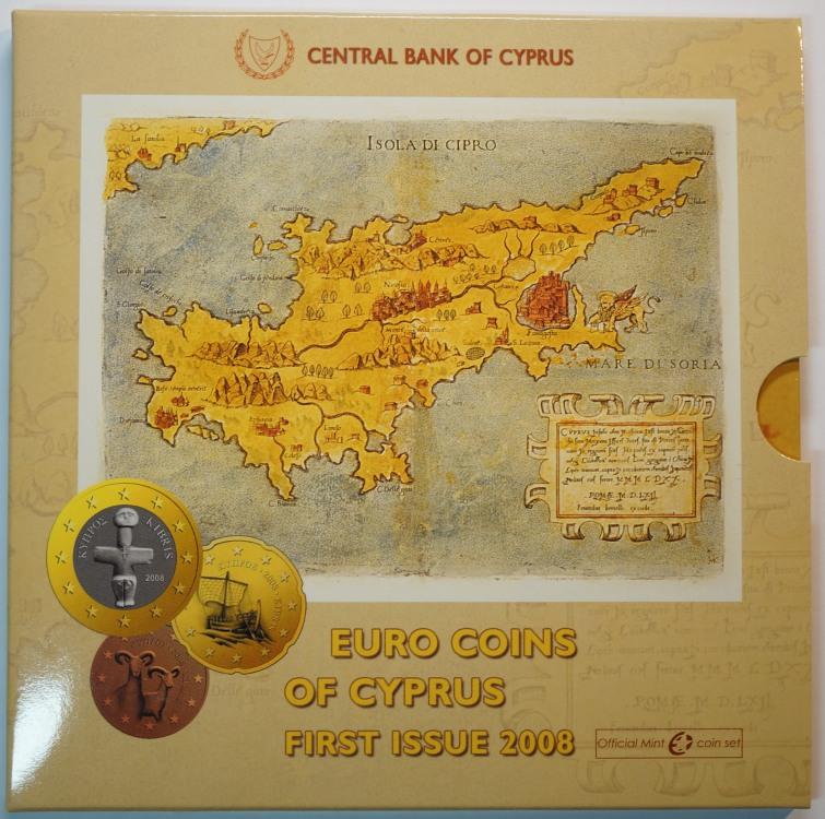 3.88 Euro 2008 Zypern Kursmünzensatz st