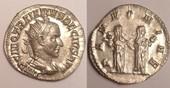 AR Antoninanus / Antoninian 250 AD Roman Empire / Römische Kaiserzeit Trajan Decius. AD 249-251 gutes vzgl