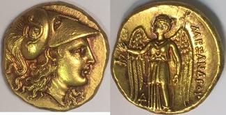 AV Stater 328-323 BC Makedonien / Macedon Alexander III. 336-323 BC Prachtexemplar