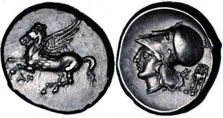 stater / didrachm 350-300 BC Acarnaia / Akarianien Anactorium / Anaktorium near Extremely Fine / fast vorzueglich