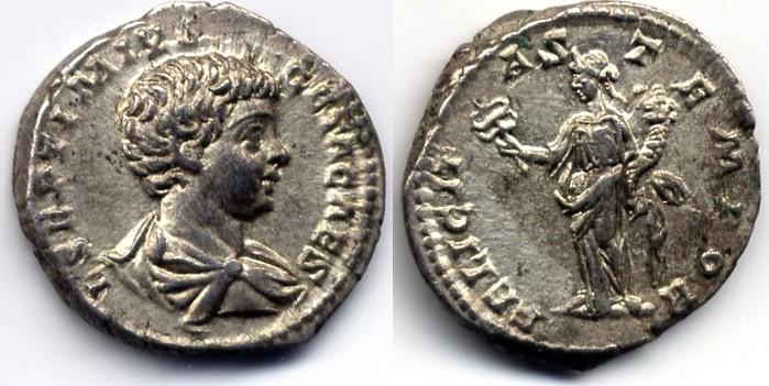 AR Denarius / Denar Roman Empire / Römische Kaiserzeit Geta 198-209 AD vzgl
