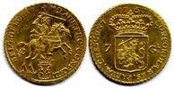 7 Gulden / 1/2 Gouden Rijder 1760 Netherlands / Niederlande Gelderland ... 875,00 EUR  zzgl. 12,00 EUR Versand