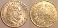 1/4 Franc 1844 K France / Frankreich Louis Philippe gutes vzgl  550,00 EUR  zzgl. 12,00 EUR Versand